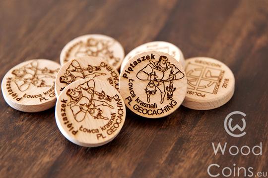 wood geocoins - xwg, cwg, pwg